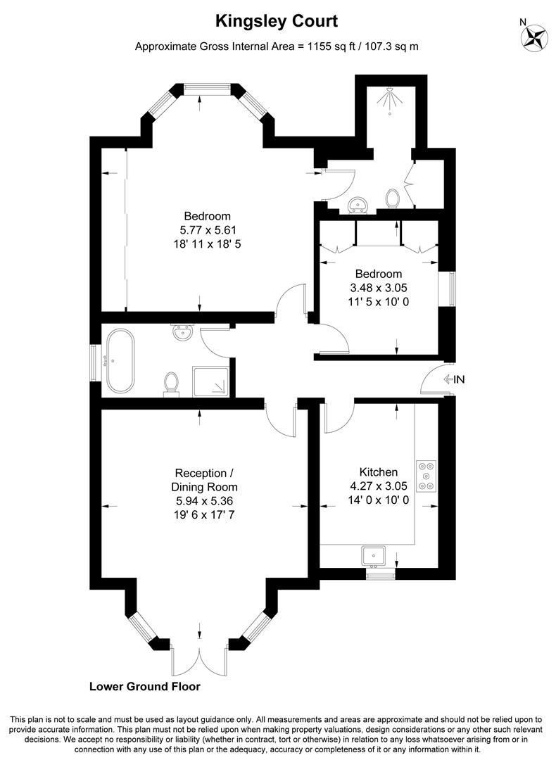 Floorplan for Lingfield Road, Wimbledon